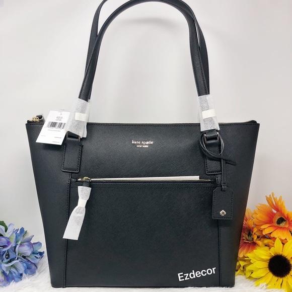 kate spade Handbags - NWT Kate Spade Cameron Pocket Leather Tote Black